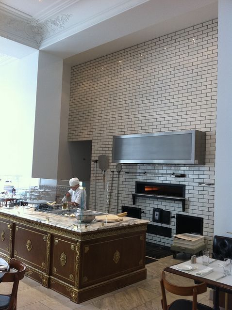Bottega Louie, via Flickr. LA look at that marble counter and modern brick oven.