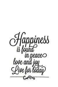 HAPPINESS IS FOUND 34X38CM VINYL WALL STICKER