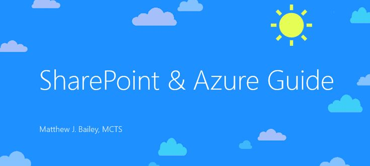 "Welcome to my little ""unofficial"" SharePoint Azure guide. This guide is somewhat geared toward IT pros & developers, but the information can be helpful to anyone interested in SharePoint and Azure. I wanted to create a guide to help others avoid the making the same mistakes I have using Azure and hope to save you money, prevent as many issues from occurring as possible and help you understand parts of Azure that are not explained or documented very well."