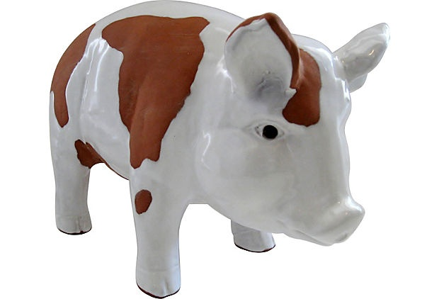 Large Ceramic Pig Ceramics Home And Vintage