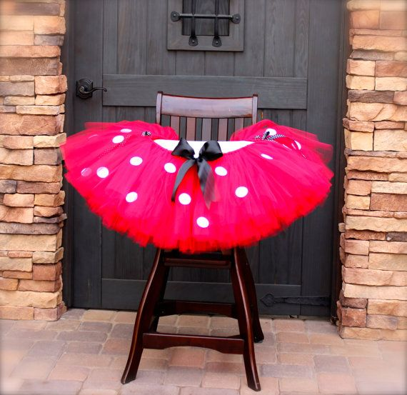 Red Minnie Mouse High Chair Tutu Red Minnie by PiaMiaBoutique