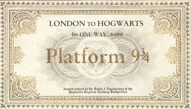 Find More Wall Stickers Information about OEM Harry Potter golden Platform 9 3/4 Train ticket Hogwarts express wallpaper stickers Mural customized cute retro poster decor,High Quality sticker resin,China stickers fruit Suppliers, Cheap sticker decor from Personalized DIY on Aliexpress.com