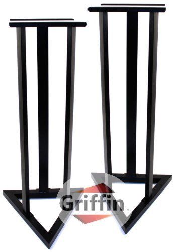 Studio Monitor Speaker Stands Home Audio Theater Surround Sound TV Floor Pair Recording Satellite Griffin by Griffin Stands. $72.95. Featured here is a pair of studio monitor speaker stands by Griffin AP series. Perfect use for your recording studio or use them as your home surround sound speaker stands. Make everyone in your family happy by purchasing these heavy duty home theater speaker stands! Your wife will appreciate the eye-pleasing aesthetic of these home t...