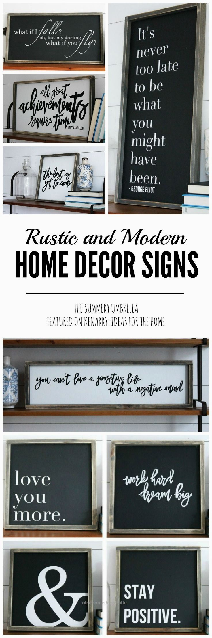 Rustic and modern home decor signs giveaway http www for Modern rustic design definition