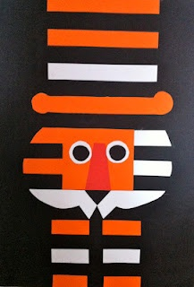 Instructions on how to make this tiger with your little one based on progressive poster artist Tom Eckersley's prints.