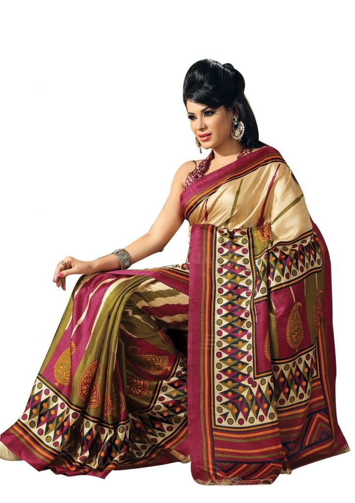 Colorful Art Designer #Masakali Saree.  Shop here: http://www.ethnicqueen.com/eq/sarees/masakali/