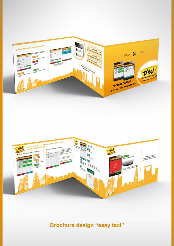 Brochure design easy taxi on Behance