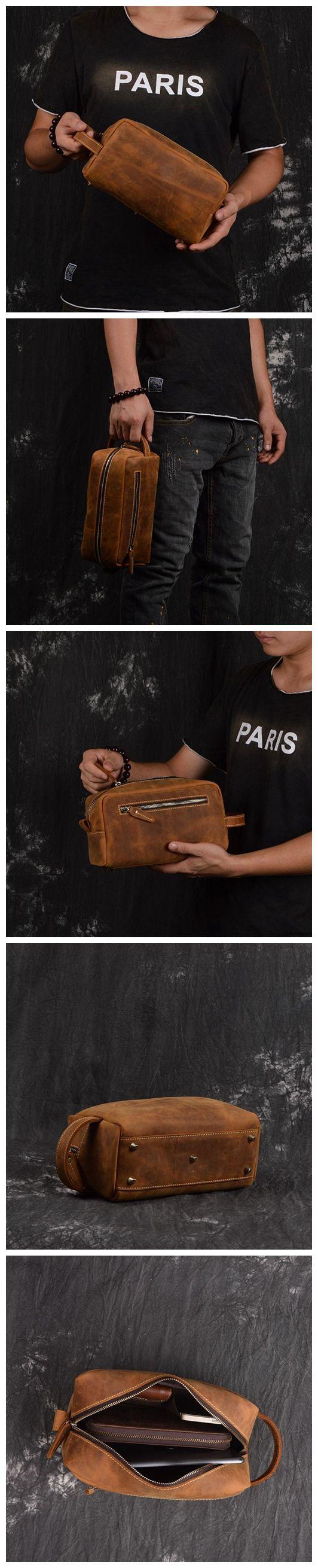 "Model Number: 2025 Dimensions: 9.8""L x 3.9""W x 5.1""H / 25cm(L) x 10cm(W) x 13cm(H) Weight: 1.5lb / 0.7kg Hardware: Brass Hardware Color: Vintage Brown / Dark Brown Features: • Genuine Natural Leather"