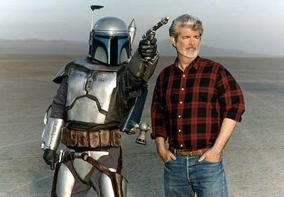 Jango and George: Mandalorian Jedi, Happy Birthday, Jango Fett, Stars War, Jedi Warriors, Movie Stars, George Lucas, Photo, Starwars