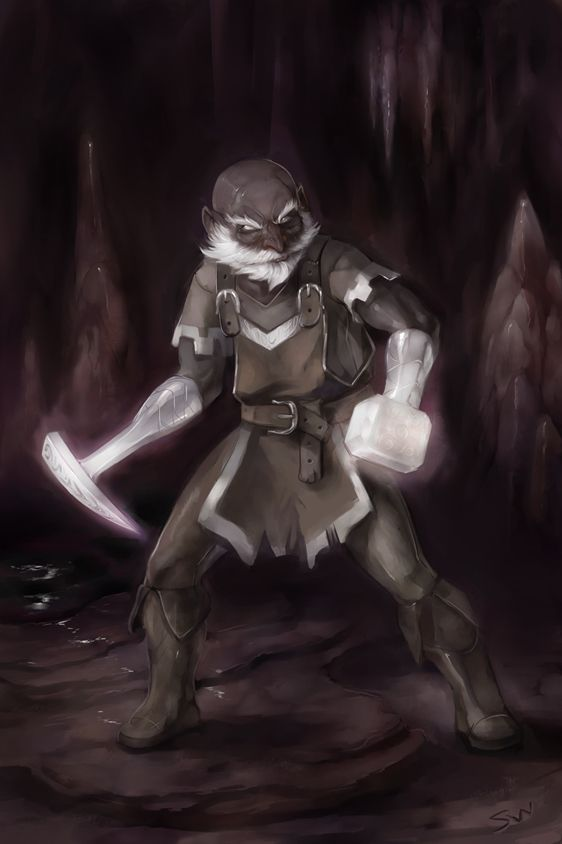 "dungeoncrawlersltd: "" Most Honorable Burrow Warden - Belwar Dissengulp by wood-illustration """