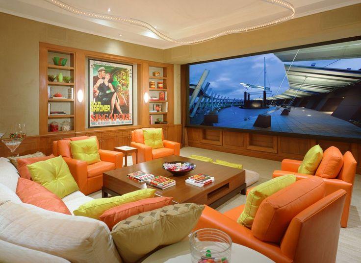 Modern Home Theater. Landry Design Group, Inc. / High End Custom Residential