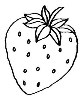 printable fruits strawberry coloring pages printable coloring pages for kids - Fruit Coloring Pages Toddlers