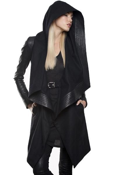 [black leather jacket] - SKINGRAFT, burning man, street wear, goth, coachella, avante gaurde,