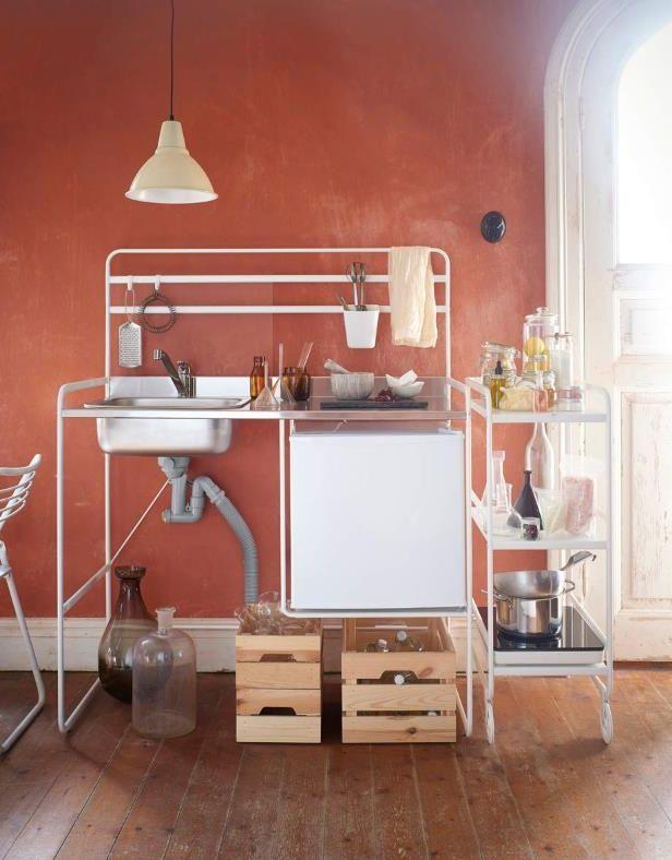 la micro cuisine sunnersta avec une structure en mtal elle est quipe d - Cuisine Occasion Belgique
