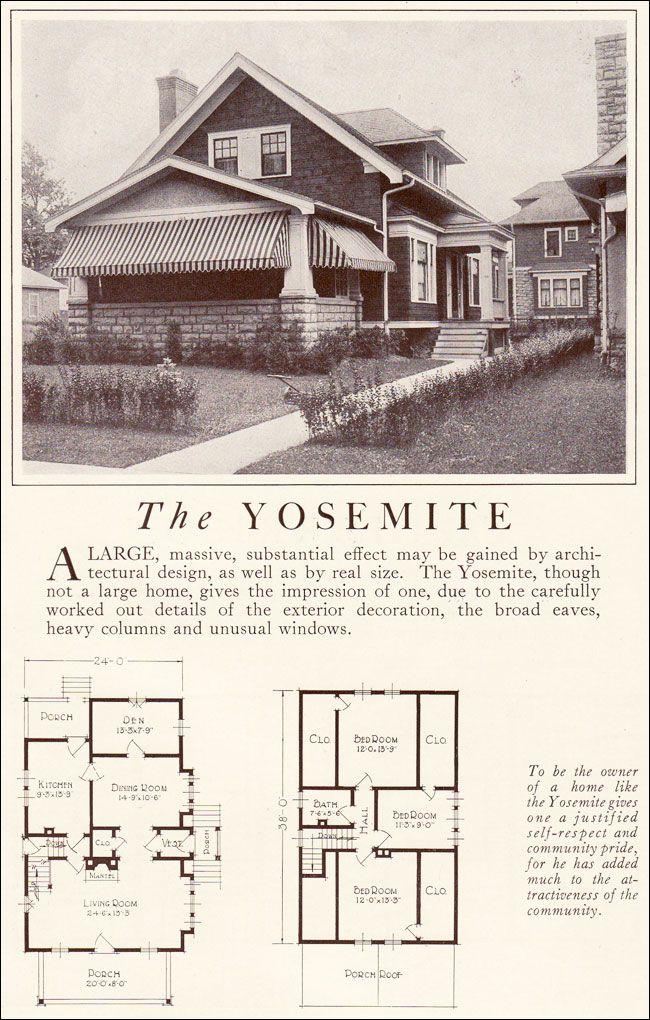 1922 Lewis Mfg.   Yosemite · House Design PlansNice HousesSmall Houses Vintage ...