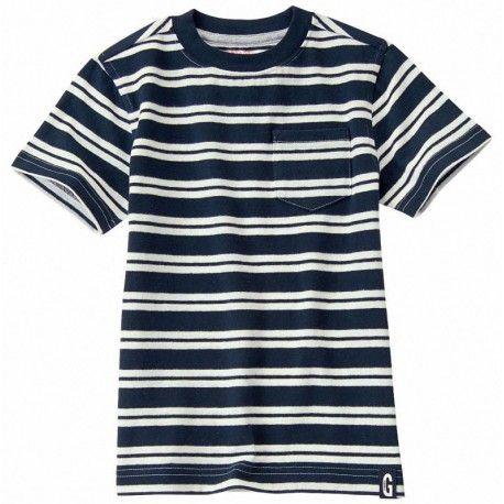 Camiseta Gymboree a rayas con bolsillo