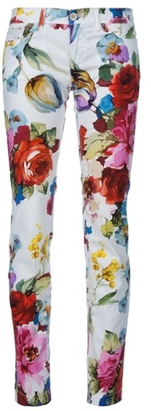 DOLCE & GABBANA Floral Print Trouser   dressmesweetiedarling | for maintaining a blissful outlook