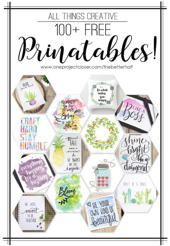 All Things Creative: 100 Printables