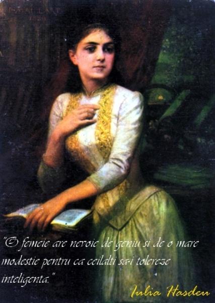 Garbo va invita astazi la o picatura de zen spirituala si feminista, venind de la una din marile personalitati feminine ale culturii romanesti, Iulia Hasdeu.