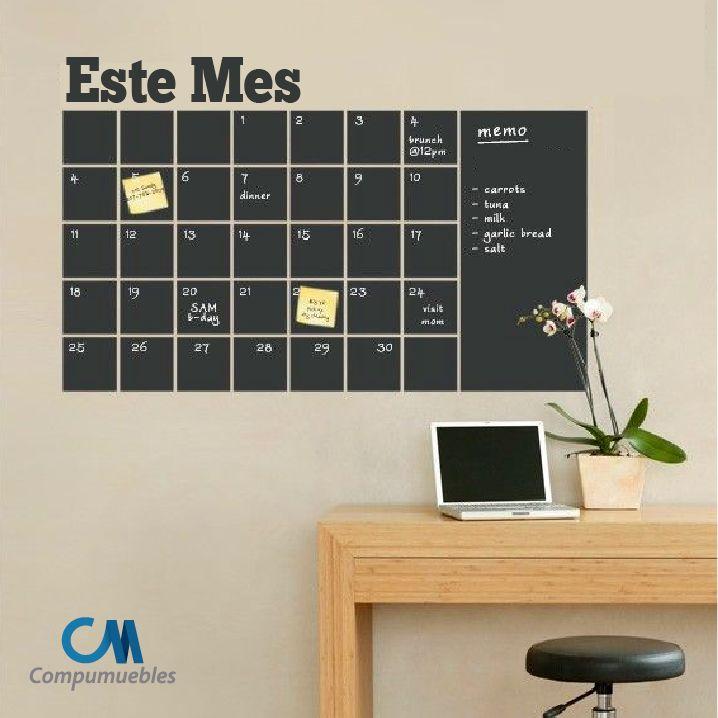 ¿Qué tal esta idea para iniciar este mes de la manera más organizada y sencilla?  www.compumuebles.com