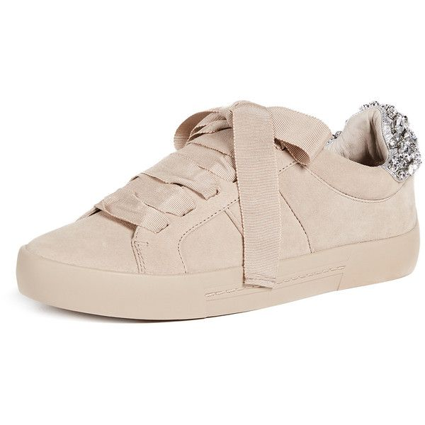 Joie Darena Sneakers (845 BRL) ❤ liked on Polyvore featuring shoes, sneakers, fog, round toe flat shoes, jogging shoes, lace up flat shoes, lacing sneakers and round cap