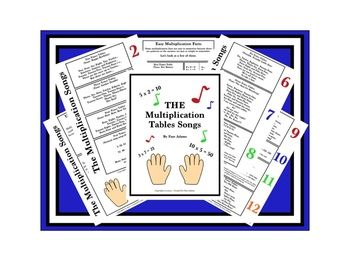 """This freebie offers students an entertaining way of bringing music into the classroom by way of teaching math in song. """"The Multiplication Tables Songs by Faye Adams"""" will be used in my toolkit for making math FUN!"""