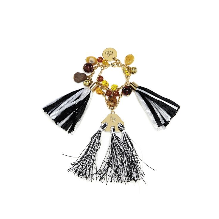New Hippie Chic – Blugirl Spring Summer 2017 • Bracelet with charms and tassels.