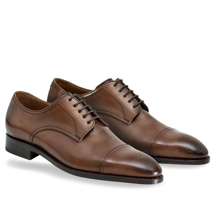 Handmade New Handmade Cap Toe Brown Oxford Derby leather Formal Business Shoes - Dress/Formal