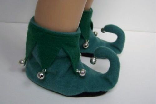 """Christmas ELF Green Slipper House-Shoes For 18"""" American Girl Dolls (Debs)   Dolls & Bears, Dolls, Clothes & Accessories   eBay!"""