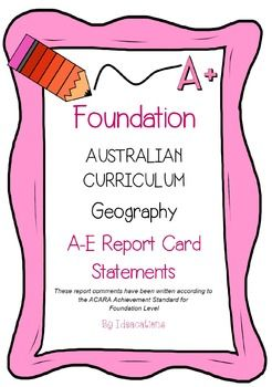 * Now UPDATED to align with V8.1 of the Australian Curriculum*Report card writing has never been easier! Save time and be confident that your comments are well written and designed to align to the Australian Curriculum Achievement Standards. This file contains 35 A - E report card comments for Foundation Level.