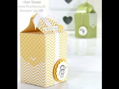 Stampin' Up! UK Tag Topper Baby Bag Tutorial