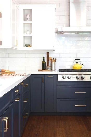 navy and white two tone kitchen cabinets kitcheninterior dream rh pinterest com