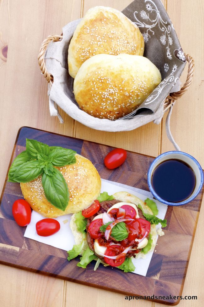 Apron and Sneakers - Cooking & Traveling in Italy and Beyond: Parmesan Hamburger with Smoked Scamorza Cheese and Sun-Dried Tomatoes