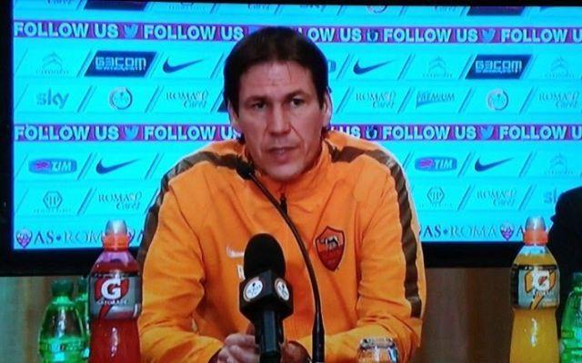 """Garcia in conferenza stampa: """"Sul futuro decideranno dirigenza e Presidente"""" #roma #conferenzastampa #garcia #cesena"""