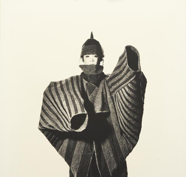IRVING PENN b. 1917 Issey Miyake Onion Flower Bud Coat, New York, 1987 Platinum palladium print, printed 1988.