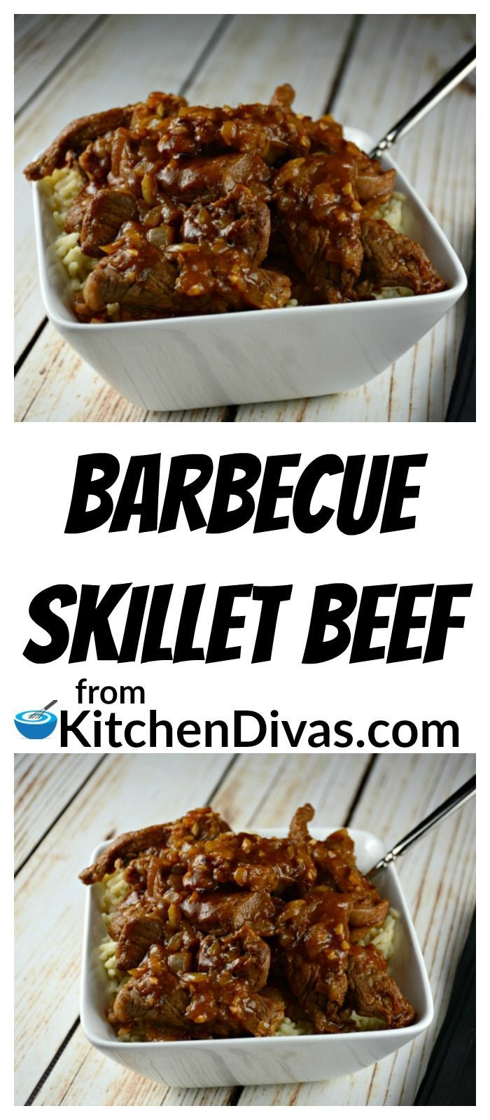 I love making this for dinner. Barbecue Skillet Beef is delicious. Love the gravy. Really love the gravy. I usually pick up a small roast on sale, cut it up and use it to make this weeknight winner! You can use any cut of steak too. I always figure why spend money unnecessarily!  Ken, my husband, loves hearing me say that! Served with rice or mashed potatoes this dish will not disappoint!