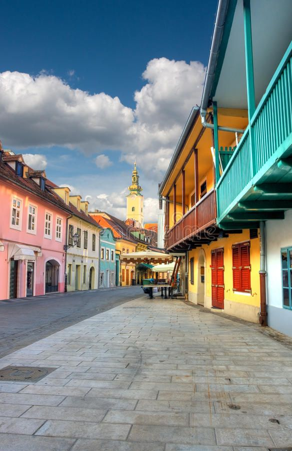 Old Street In Zagreb View Of Old Street In Zagreb Affiliate Street Zagreb View Ad Zagreb Old Street Stock Photography Free
