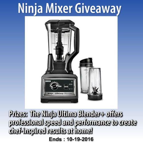 Ninja Mixer Giveaway {US} (10/19/2016) via http://ift.tt/2dbNhXh sweepstakes IFTTT reddit giveaways freebies contests
