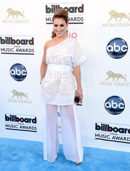 Actress Alyssa Milano arrives at the 2013 Billboard Music Awards at the MGM Grand Garden Arena on May 19, 2013 in Las Vegas, Nevada.