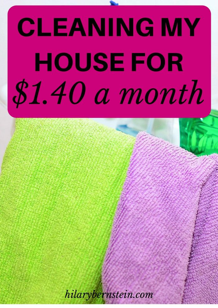 How can you safely and frugally clean your house? I'll share how I'm cleaning my house for just $1.40 a month!