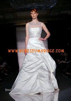 Ines Di Santo robe de mariage 2012 originale col montant satin