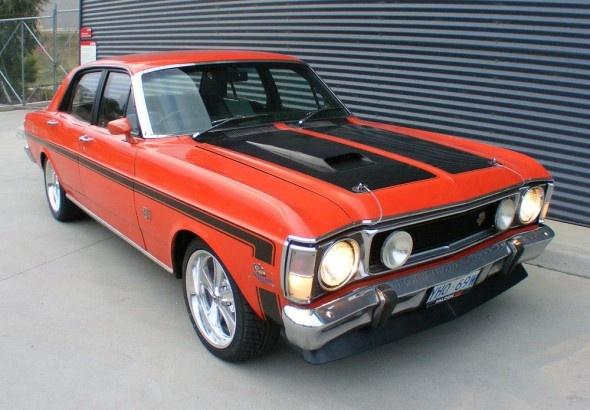 1969 Ford XW Falcon GTHO Sedan.