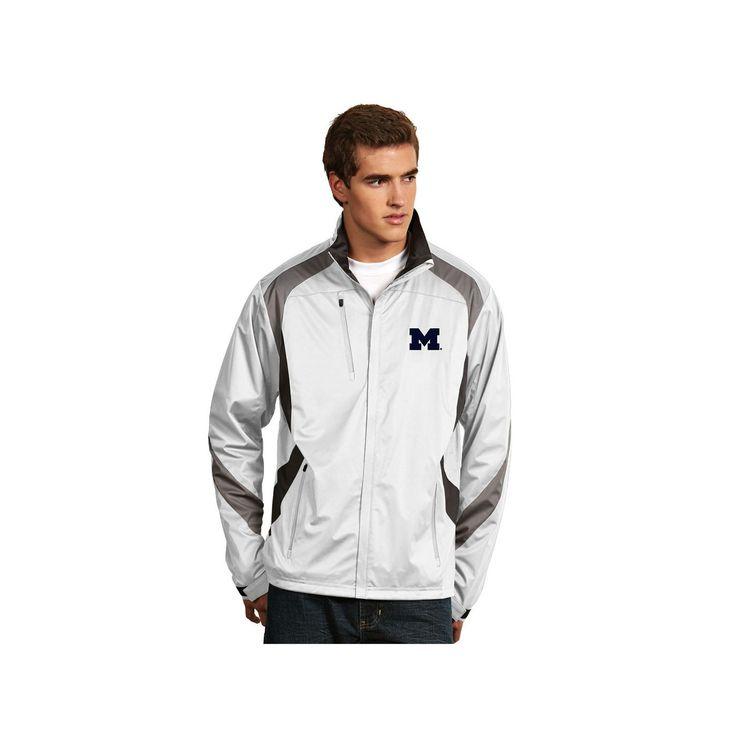 Men's Antigua Michigan Wolverines Tempest Desert Dry Xtra-Lite Performance Jacket, Size: Medium, White
