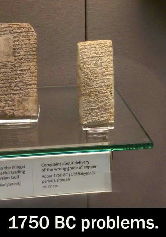 An Ancient Babylonian Customer Service Complaint Inscribed on a Clay Tablet…