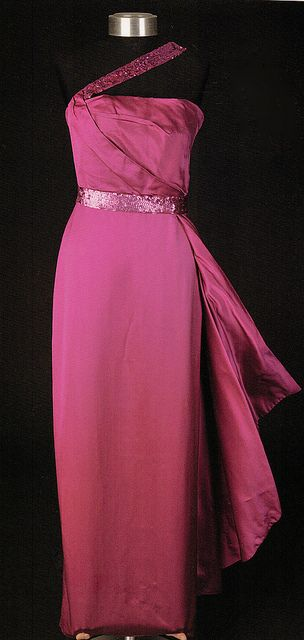 """Marilyn Monroe's Travilla gown from """"How to Marry a Millionaire"""", 1953."""