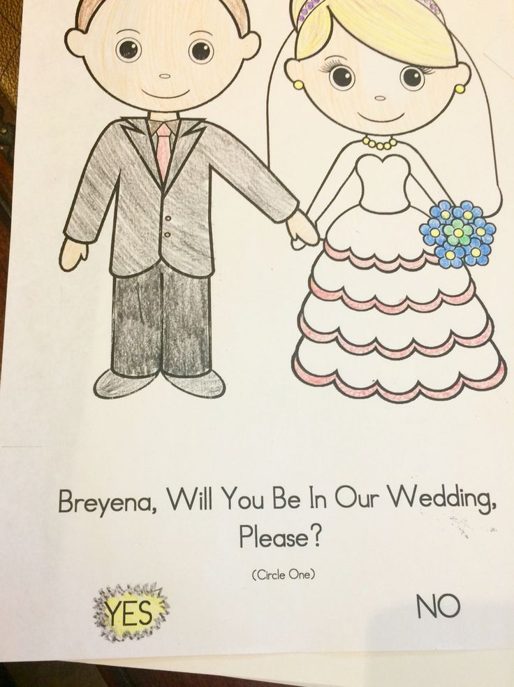 Asking child attendants to be in the wedding