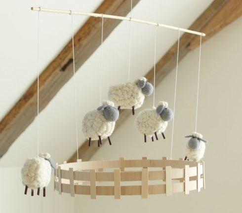 Sheep mobile by Banphrionsa