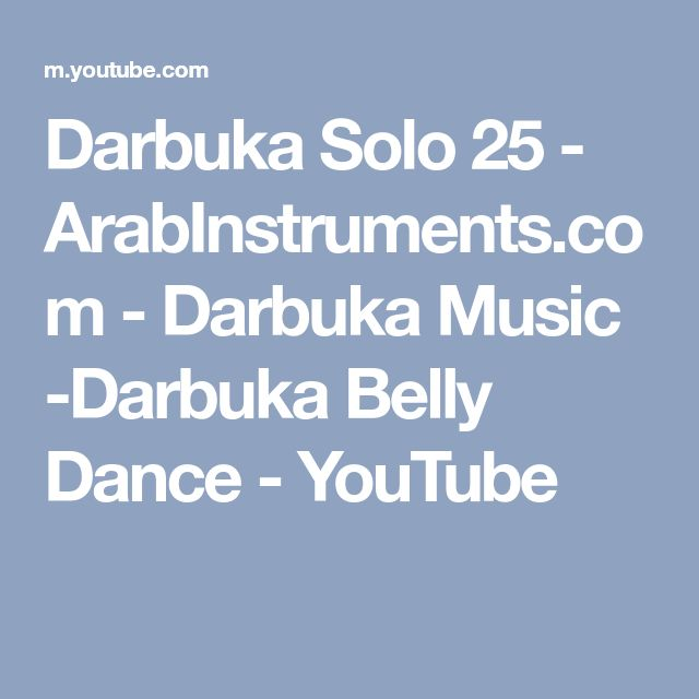 Darbuka Solo