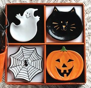 halloween plate set manual ww halloween ceramic mini plate set of 4 review at kaboodle - Halloween Plates Ceramic