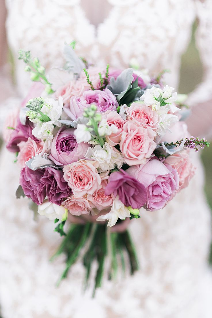 Elegant pink rose wedding bouquet | Kaitlin Maree Photography
